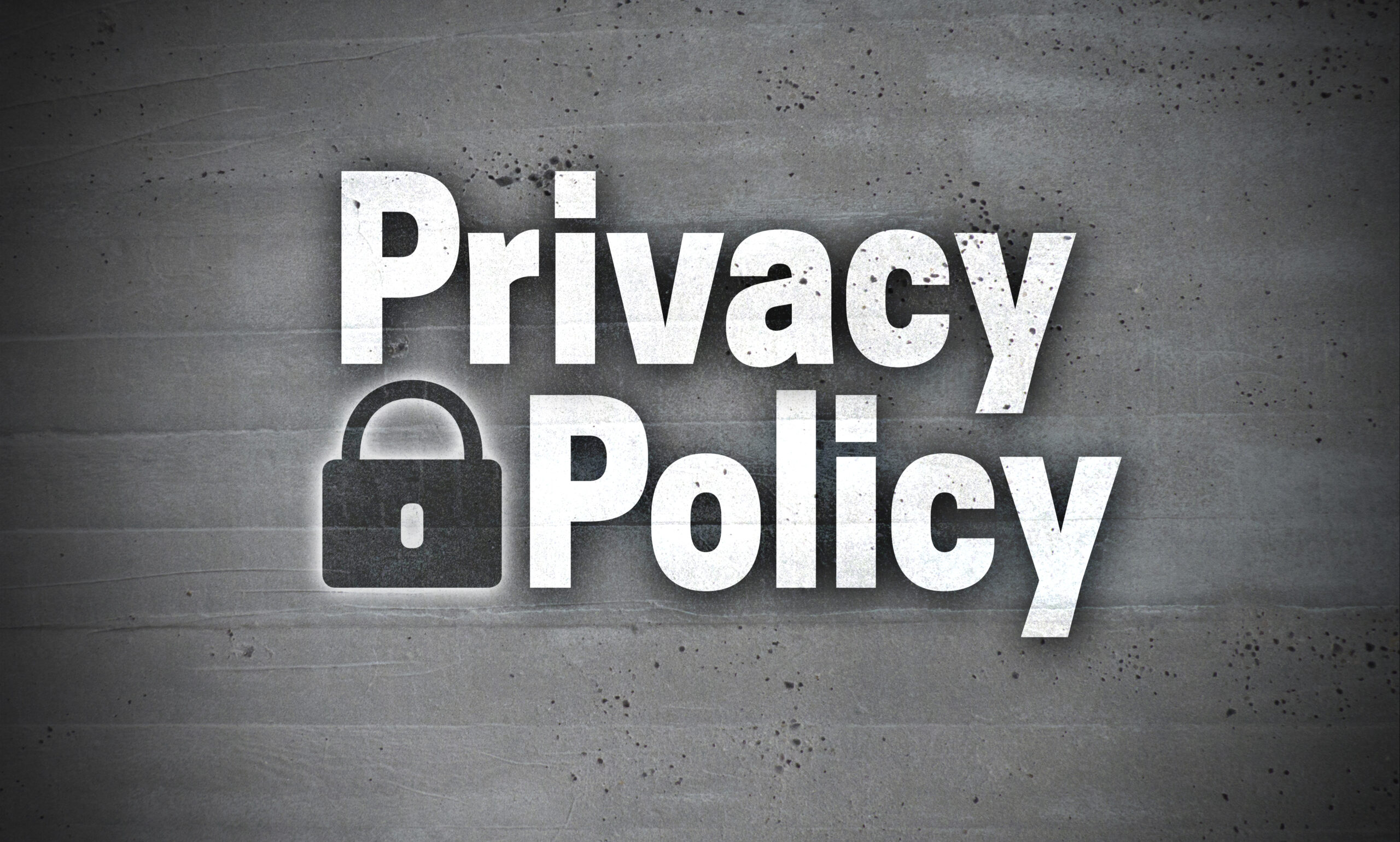 Privacy Policy with Lock Image